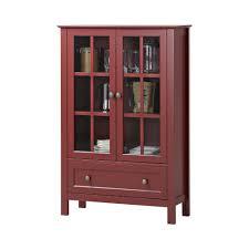 homestar 2 door 1 drawer glass cabinet z1411830r