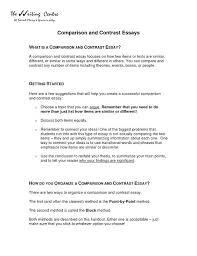 Compare And Contrast Essay Outlines Example Of Comparison And Contrast Essay Best The Laboratory