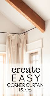 Try these quick and easy tips to create seamless corner curtains and corner curtain  rods for