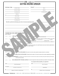 General contractors construction form software with 70 forms to create, edit, email, add photos to, & print all the gc forms you will ever need. Form 103 Extra Work Order Reusable Pdf Format