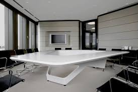 contemporary office ideas. contemporary office design ideas pictures collection : amazing white laminate swayed angled meeting table with beautiful
