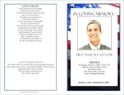 Sample Funeral Program Free Memorial Service Template Bulletin