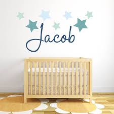 wall decor stickers baby room cool complete nursery star name fabric littleprints grasscloth wallpaper view larger appliques uni stick murals art ideas