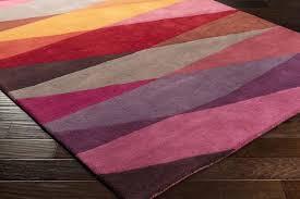 eggplant area rug color
