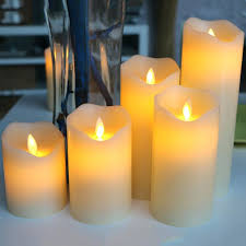 diy led candle unique shaped candles led candles with dancing flame wax pillar candle lamp for diy led candle