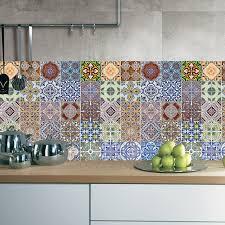 Home Decor Tile Stores 100Pcsset Arabic Style Tile Floor Sticker Waterproof PVC Wall 99