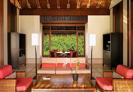 resort living room design with more color and fort furniture