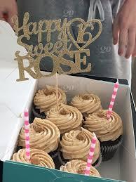 Birthday Cake Birthday Sprinkles Tan Cupcakes Sixteen Peanut