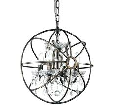 wood metal globe chandelier
