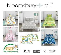 childrens kids duvet cover pillowcase set single double toddler