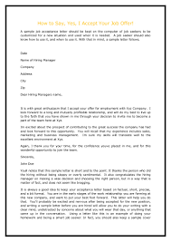 how to write a job offer letter how to say yes i accept your job offer