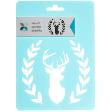 deer head fauna stencil hobby lobby