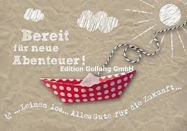 Grußkarte Bereit Für Neue Abenteuer Abschied Kollege125x185