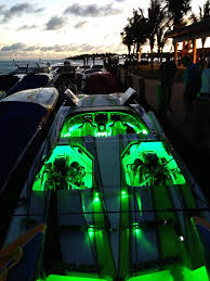green led lights and strips illuminate and accent all of this customer s boat your boat is looking super bright mark thanks for sharing