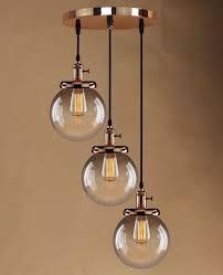 retro vintage cer hanging ceiling lights globe 3 glass shades pendant lamp