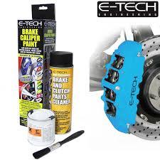 sky blue e tech brake caliper paint kit also for drums car etech engine bay
