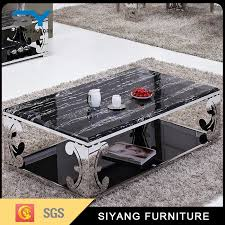 chinese living room furniture marble top tea table