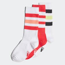 Adidas Young Athletes Socks 3 Pairs White Adidas Canada