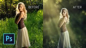Add Light Rays In Photoshop Photoshop Cc Tutorial How To Add Light Ray In Photoshop Light Rays In Photoshop