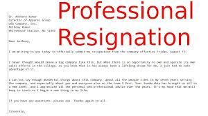 best resign letter  resignation letter examples  sample    professional resignation letter samples