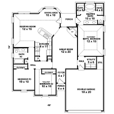 floor plan of a one story house. Interior One Story House Plans Hillary Mill Home Plan Floor Of A R