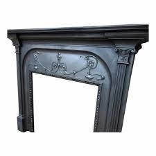 antique victorian fireplace cast iron surround