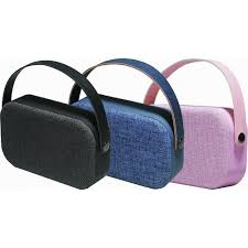 speakers pink. denver bts-63 portable bluetooth speaker in pink fabric, with carry handle, usb \u0026 aux-in speakers pink