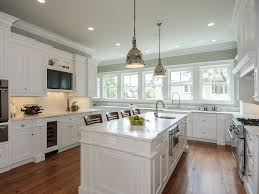 White Cottage Kitchen With Classic Functional Cabinets Design (Image 26 of  26)