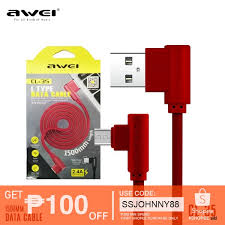 <b>AWEI</b> CL-35 L-Type TYPE-C Fast charging <b>Data Cable</b> 1500mm ...
