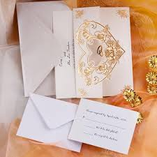 Folded Wedding Invitations Cheap Wedding Invitations Free Response