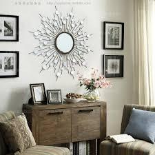 Metal Wall Decorations For Living Room Aliexpresscom Buy Metal Wall Mirror Decor Modern Mirrored Wall
