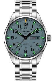 Mens Watches That Light Up Amazon Com Swiss Super Bright Luminous Quartz Watch Mens