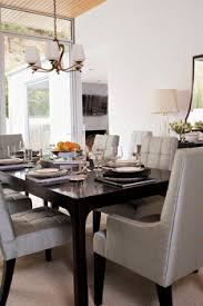 black lacquer dining room furniture. chic gray u0026 black dining room design with upholstered tufted chairsso purty glossy lacquer table and beautiful chandelier furniture h