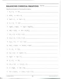balancing equations practice worksheet answers com problems answer key