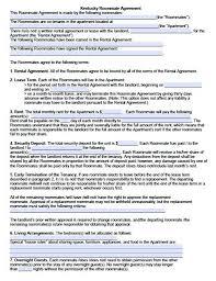 Printable Sample Room Rental Agreement Template Form Real Estate