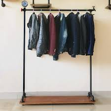 Clothes hanging shelf Maidmax Retro Water Pipe Solid Wood Clothing Store Hanger Floor Clothing Store Display Rack Clothing Rack Hanging Chinahaocom Usd 2930 Retro Water Pipe Solid Wood Clothing Store Hanger Floor