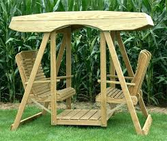 outdoor furniture swings and gliders pine wood contour double lawn swing with roof grove collection swing outdoor furniture swings and gliders