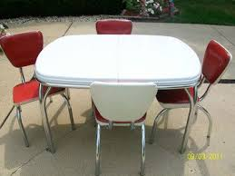metal dining room chairs chrome:  images about chrome kitchen dinette table and chairs on pinterest table and chairs dining sets and vintage kitchen