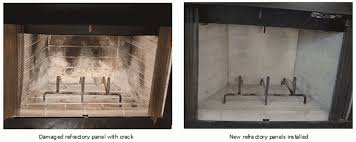 refractory panels sweepmasters professional chimney services within fireplace insert panels