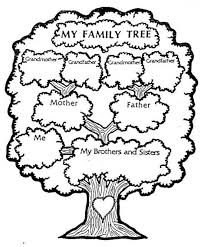Family Coloring Sheets For Preschool Free Pictures Of Family Tree