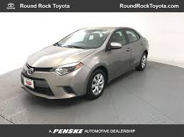 2015 Used Toyota Corolla LE at Round Rock Toyota Serving Austin ...
