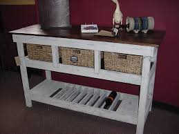 image of distressed buffet table design