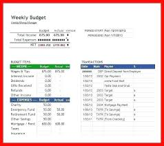 Excel Biweekly Budget Template Weekly Expenses Excel Template