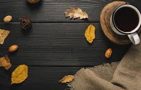 Autumn background with cup of coffee and scarf. Autumn Mug Wallpapers Wallpaper Cave