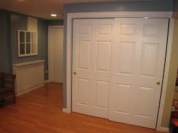 wood sliding bypass closet doors design