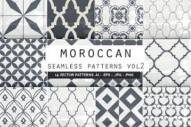 Morrocan Pattern Magnificent Moroccan Seamless Patterns Vol48 Graphic Patterns Creative Market