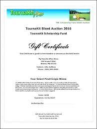 New Silent Auction Certificate Template Pics Program