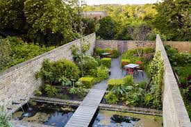 Small Picture Walled garden pond outdoor seating small garden ideas