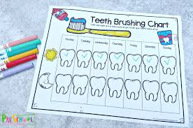 Printable exercises for kids human body coloring pages 12. Free Teeth Brushing Chart