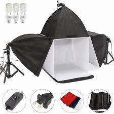 16 inch photo studio photography cube light tent backdrop 3 softboxes lighting kit